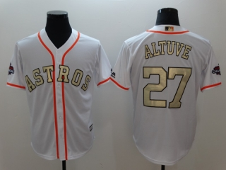 Wholesale Men's Houston Astros 2018 Gold Program Cool Base Jersey (8)