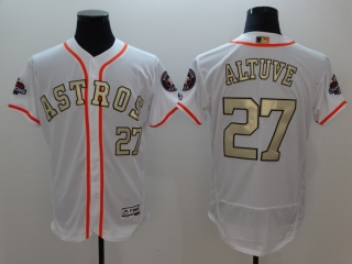 Wholesale Men's Houston Astros 2018 Gold Program Flex Base Jersey (9)
