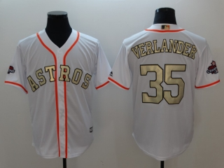 Wholesale Men's Houston Astros 2018 Gold Program Cool Base Jersey (10)